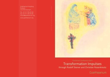 Transformation Impulses - Anthroposophical Society in America