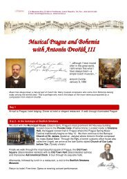Musical Prague and Bohemia Musical Prague and Bohemia with ...