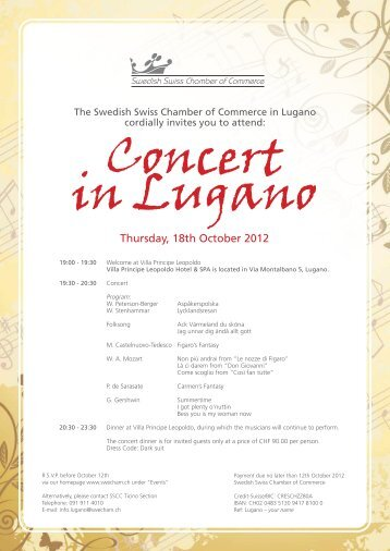 Program Concert in Lugano 18 October (pdf) - Swedish Swiss ...