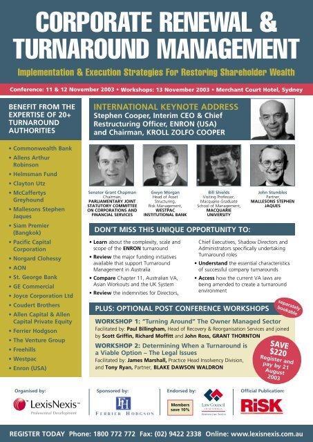 corporate renewal & turnaround management - CRS Turnaround ...
