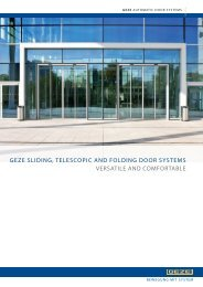 GEZE SLIDING TELESCOPIC AND FOLDING DOOR SYSTEMS VERSATILE AND COMFORTABLE