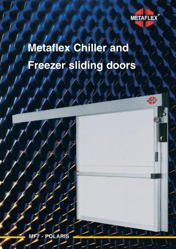 Metaflex Chiller and Freezer sliding doors