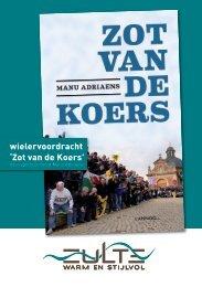 flyer wielervoordracht 'zot van de koers' - Gemeente Zulte