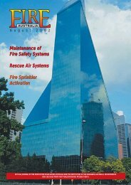 Maintenance of Fire Safety Systems Rescue Air Systems Fire Sprinkler Activation