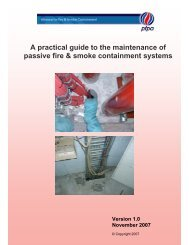 A practical guide to the maintenance of passive fire & smoke containment systems