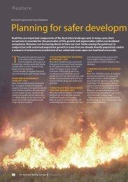 Planning for safer developm