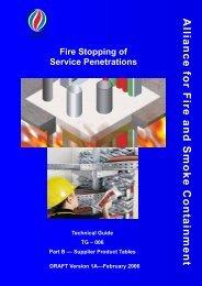Fire Stopping Systems Supplement — Supplier Product Tables