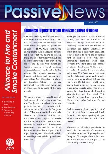 General Update from the Executive Officer