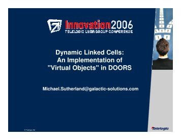 An Implementation of  Virtual Objects  ...  sc 1 st  Yumpu & DOORS DXL - Adventures in Microsoft OLE Automation