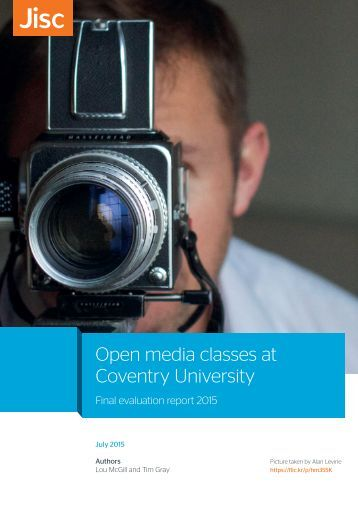 Open media classes at Coventry University