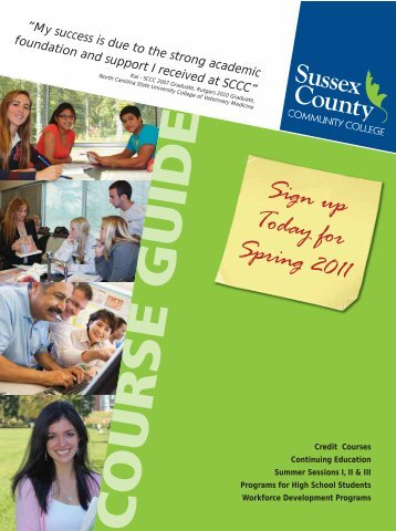 Sign up Today for Spring 2011 - Sussex County Community College