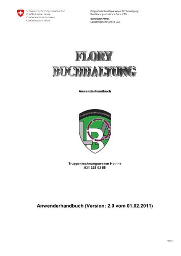 Handbuch FLORY, version Deutsch - Logistikbasis der Armee LBA