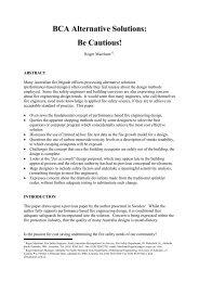 BCA Alternative Solutions Be Cautious!