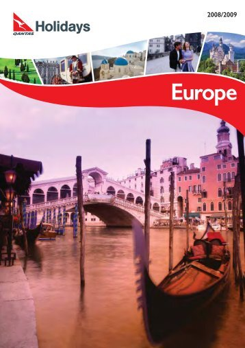 Europe Holiday Qantas Holidays packages 2008