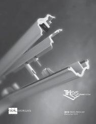 2010 TRISYS PRICE LIST