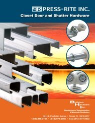 Closet Door and Shutter Hardware