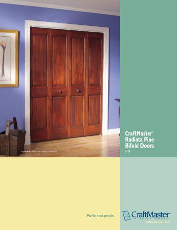 CraftMaster Radiata Pine Bifold Doors