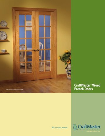 CraftMaster Wood French Doors