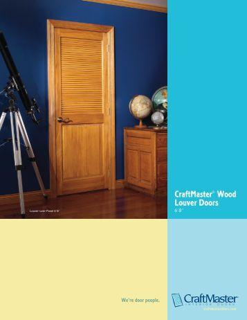 CraftMaster Wood Louver Doors