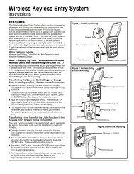 Wireless Keyless Entry System