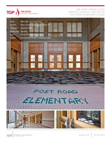 Post Road Elementary School - Technical Glass Products