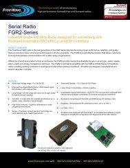 Serial Radio FGR2-Series