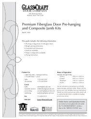 Premium Fiberglass Door Pre-hanging and Composite Jamb Kits
