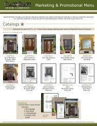 Marketing & Promotional Menu Catalogs