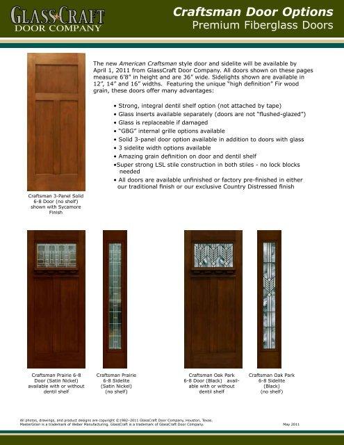 Craftsman Door Options