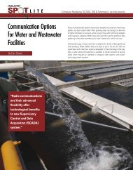 Communication Options for Water and Wastewater Facilities