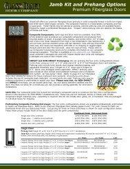Jamb Kit and Prehang Options - GlassCraft Door