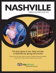 The best places to eat, sleep and play in Nashville this ... - TripAdvisor