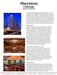 hotel brochure pg1 - The Sheraton Chicago Hotel & Towers