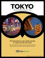 The best places to eat, sleep and play in Tokyo this fall ... - TripAdvisor