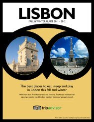 The best places to eat, sleep and play in Lisbon this fall ... - TripAdvisor