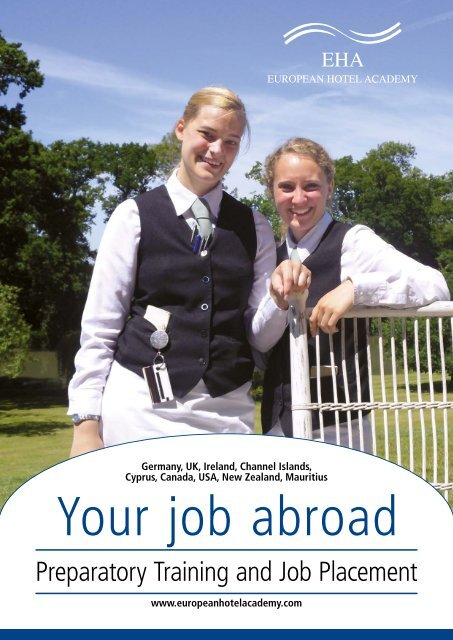 Your job abroad - European Hotel Academy