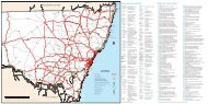 NSW road map with rest areas and driver reviver stops