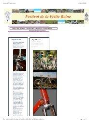 Festival de la Petite Reine - Isabelle et le vélo