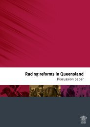 Racing reforms in Queensland