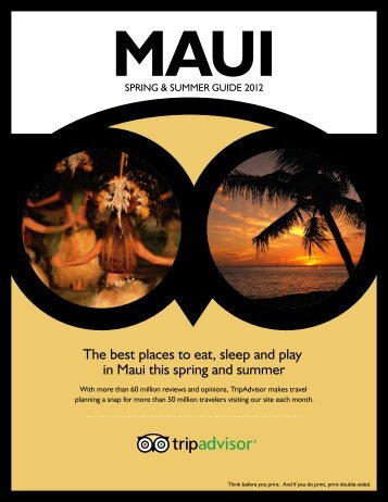 The best places to eat, sleep and play in Maui this ... - TripAdvisor