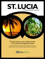 The best places to eat, sleep and play in St. Lucia this ... - TripAdvisor