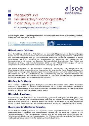 Lehrgangsbeschreibung - Nierenzentrum Heidelberg
