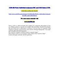 COM 486 Week 1 Individual Assignment IMC and CMM Basic-com486dotcom