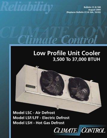 Heatcraft Low-Profile Evaporators
