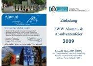 Einladung FWW Alumni - Otto-von-Guericke-Universität Magdeburg