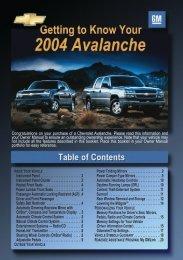 15877 AVALANCHE - Chevy Avalanche Fan Club of North America
