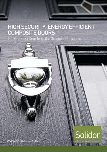 HIGH SECURITY ENERGY EFFICIENT COMPOSITE DOORS