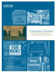 California Tenants A Guide to Residential Tenants' And Landlords ...