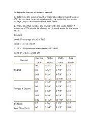 To Estimate Amount of Material Needed 1 ... - Daniel Lumber
