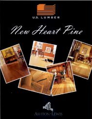 Aston-Lewis Heart Pine Flooring - Daniel Lumber
